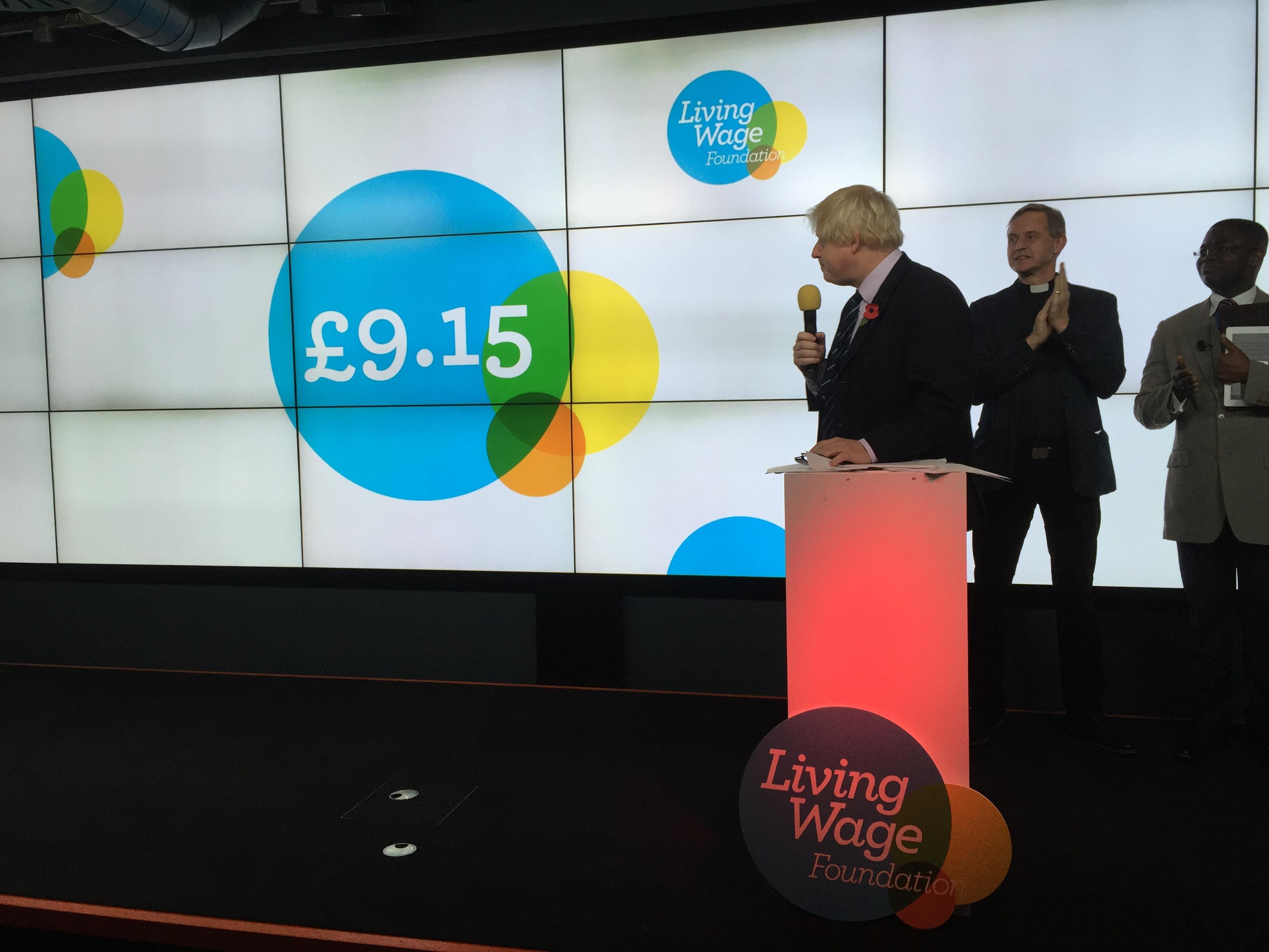 Mayor of London Boris Johnson London Living Wage increase