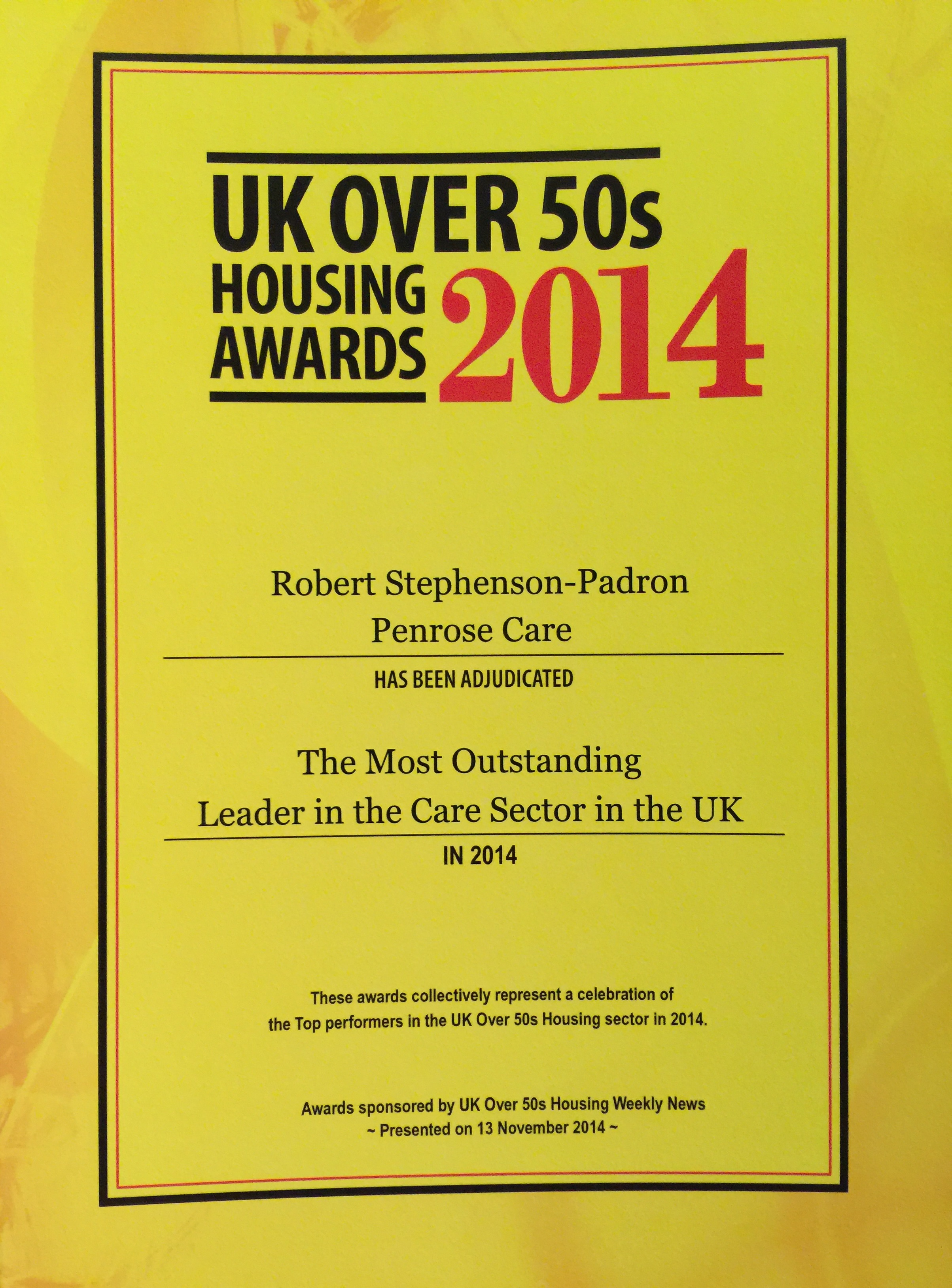 2014-11-13 (Penrose Care) Robert Stephenson-Padron UK Housing Over 50s Award 05