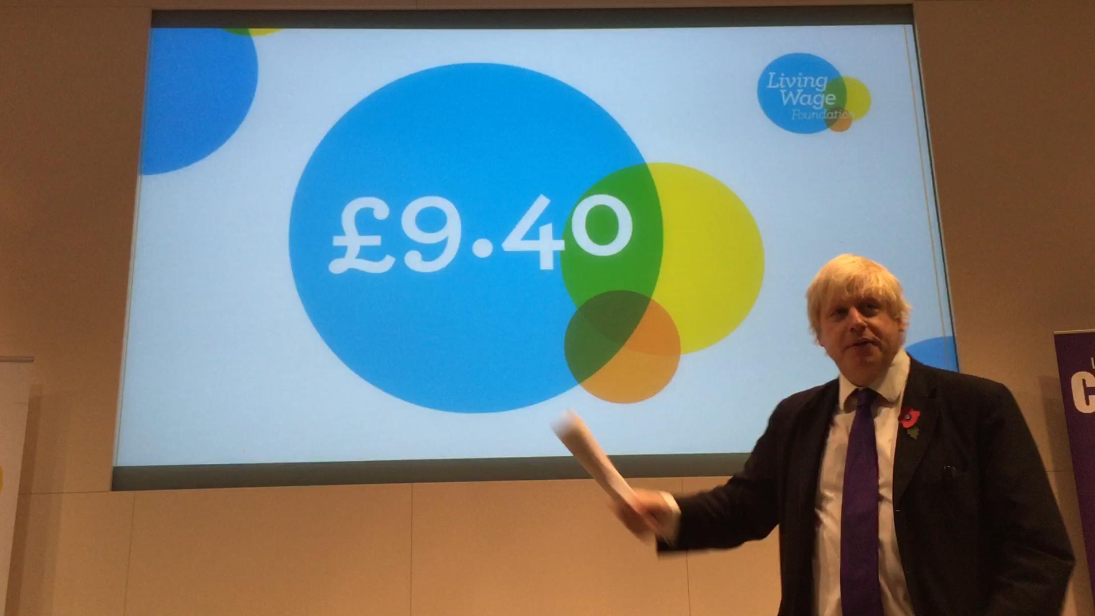2015-11-02 (Penrose Care) Boris Johnson Living Wage 2016 announces