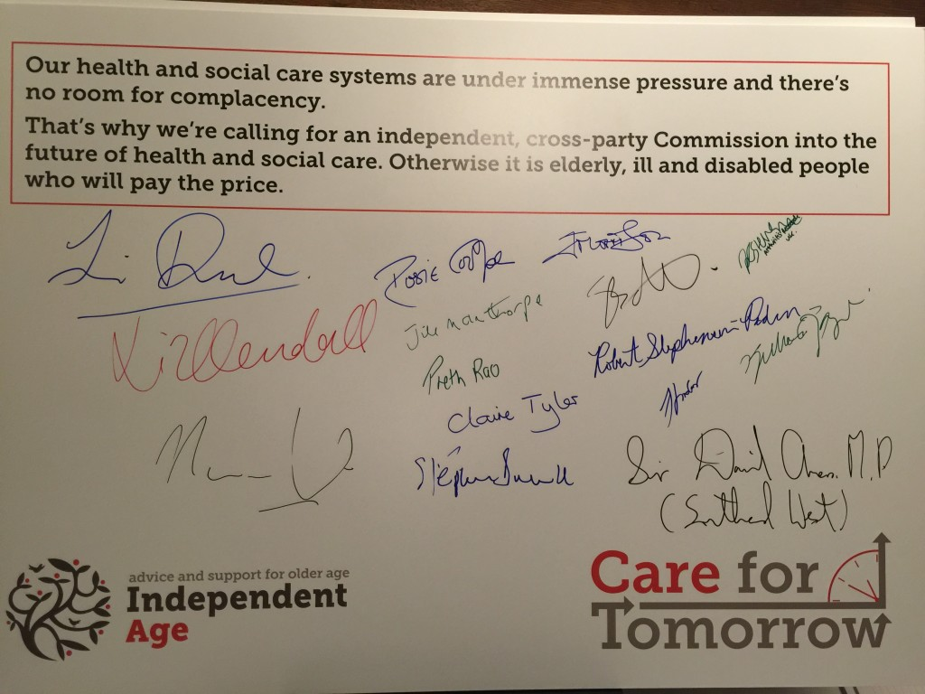 Independent Age Pledge Board