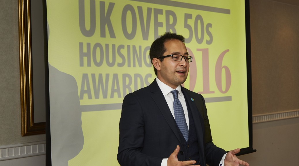 Penrose Care managing director Robert Stephenson-Padron addresses leaders of the UK health and social care sector at the UK Over 50s Housing Awards on March 20, 2017.