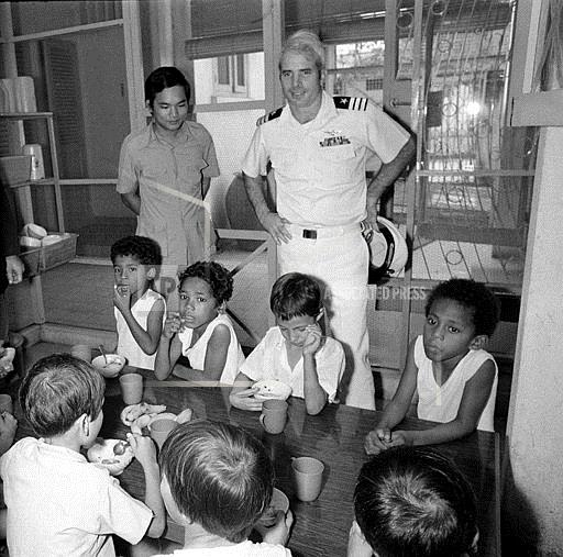 John McCain visiting orphanage in Vietnam