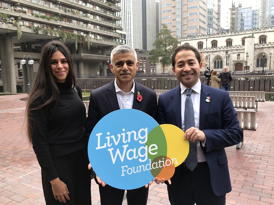 Aya Khazaal (Pivoine) and Bob Padron (Penrose Care) with Mayor of London Sadiq Khan