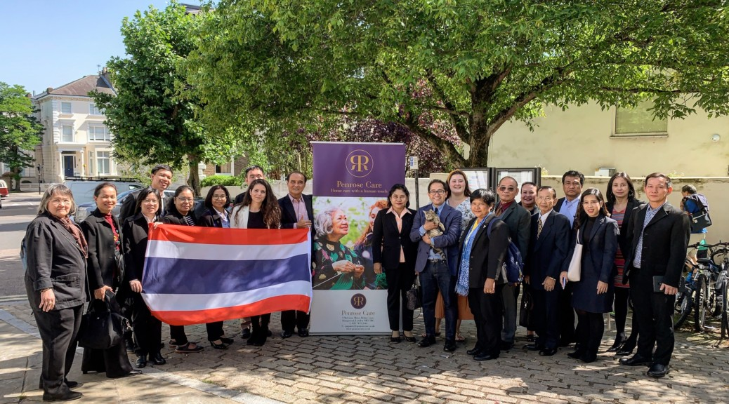 Thai delegation with Penrose Care management in Belsize Terrace