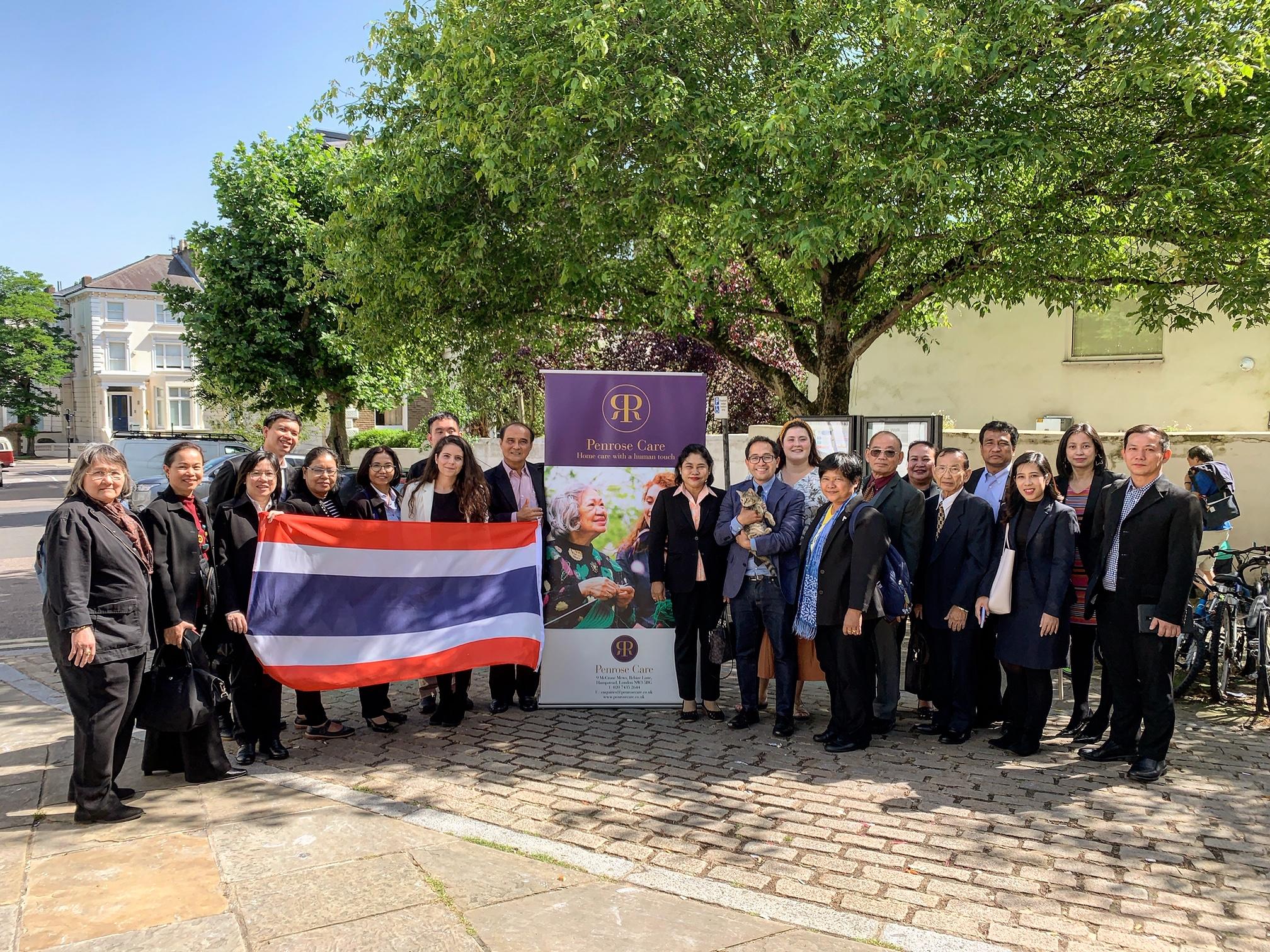 Thai delegation with Penrose Care management in Belsize Terrace